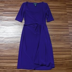 *Ralph Lauren Bluish Purple Knee Length Dress*
